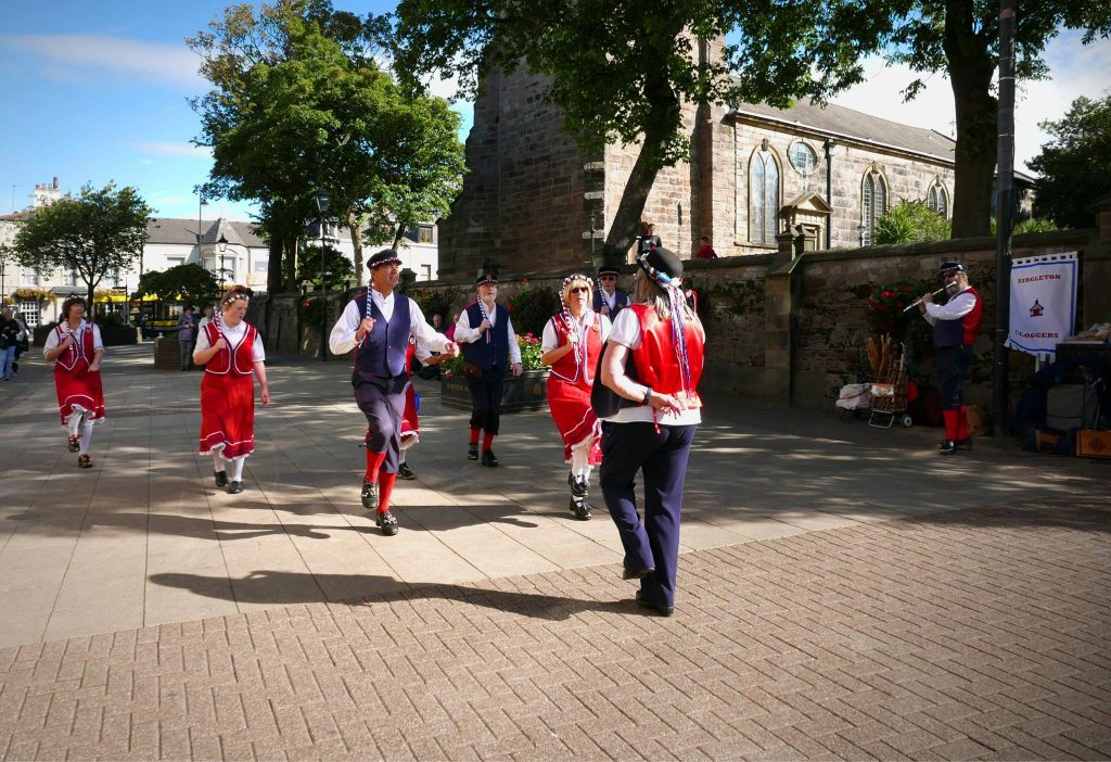 Singleton Cloggers dancing in Poulton