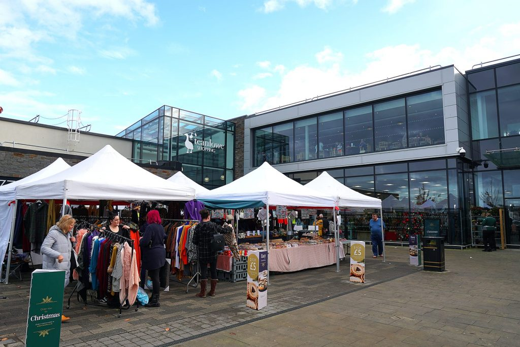 Market day in Poulton, outside the Teanlowe Centre